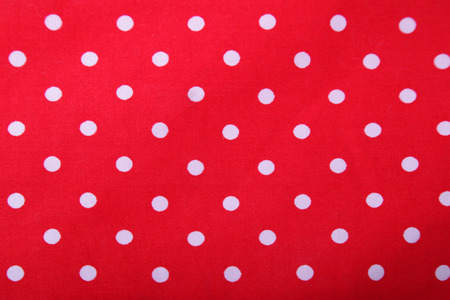 scarp: white and red polka dot background
