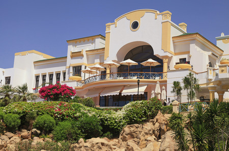 SHARM EL SHEIKH, EGYPT - MAY 03, 2014: Tropical luxury resort hotel, Sharm el Sheikh, Egypt.