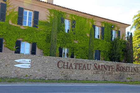 alpes maritimes: PROVENCE, FRANCE - MAY 12, 2013: Vineyard Chateau Sainte Roseline in Provence, Cote dAzur, Alpes Maritimes, Southern France