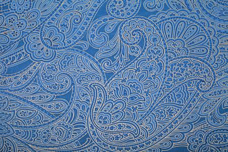 disegni cachemire: Carta da parati blu con motivo paisley