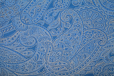 paisley: Vintage blue wallpaper with paisley pattern