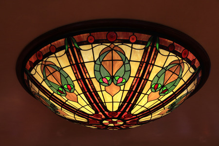 lamp made of stone: Multicolor glass tiffany style lamp