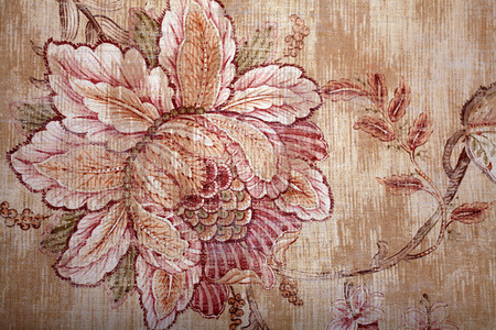victorian wallpaper: Vintage shabby chic brown wallpaper with floral victorian pattern