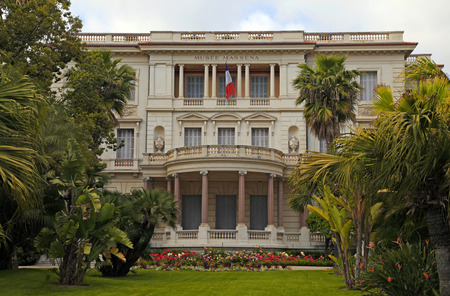 NICE, FRANCE - MAY 14, 2013: Museum Massena (Musee Massena) in the garden on Promenade des Anglais in Nice, France.