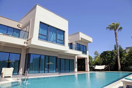 villas: Swimming pool at the modern luxury villa, Turkey Editorial