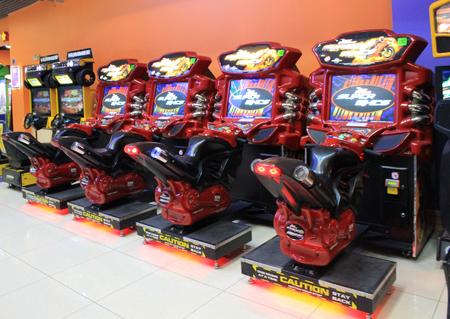 automat: KIEV UKRAINE  JUNE 25 2015: Gaming slot machines in entertainment enter Kiev Ukraine