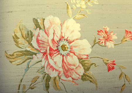 brown wallpaper: Vintage shabby chic brown wallpaper with briar floral pattern, toned image