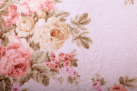 Romantic vintage shabby rose floral background with copy space