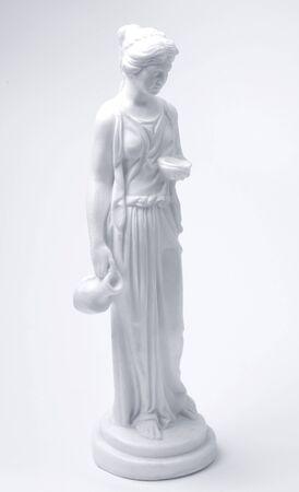 classical greek: marble female classical greek figurine