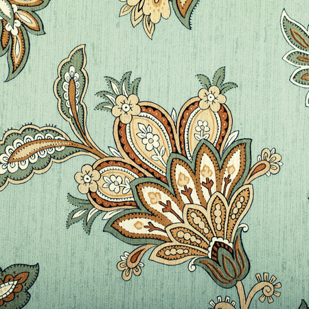 victorian wallpaper: Vintage grey wallpaper with brown vignette victorian pattern, square toned image
