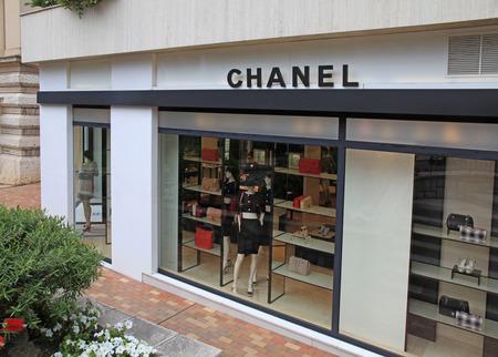 chanel: MONTE CARLO, MONACO - MAY 15, 2013: Elegant luxury Chanel boutique near famous Monte Carlo Casino, Monaco.