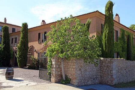 alpes maritimes: Beautiful mansion with garden in Provence, Cote dAzur, Alpes Maritimes, Southern France.