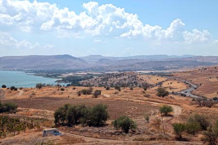 galilee: Beautiful countryside landscape, Galilee sea, Tiberias, Israel