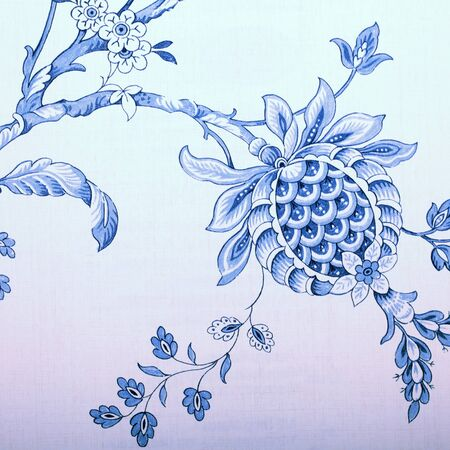 victorian wallpaper: Vintage wallpaper with blue vignette victorian pattern, square image