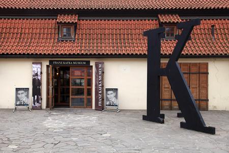 franz: PRAGUE, CZECH REPUBLIC - OCTOBER 4, 2015: Entrance of the Museum of Franz Kafka, Prague, Czech Republic Editorial