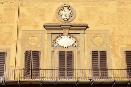 medici: Balcony of medieval Medici Riccardi Palace, Florence, Italy Editorial