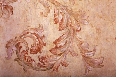 Beautiful Detail Der Vintage Beige Shabby Chic Tapete Mit Vignette Muster  Und Craquelure Photo With Shabby Chic Tapete