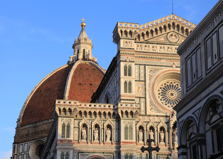 firenze: Amazing Cathedral of Santa Maria del Fiore (Il Duomo di Firenze), Florence, Italy. The basilica is one of Italys largest churches,
