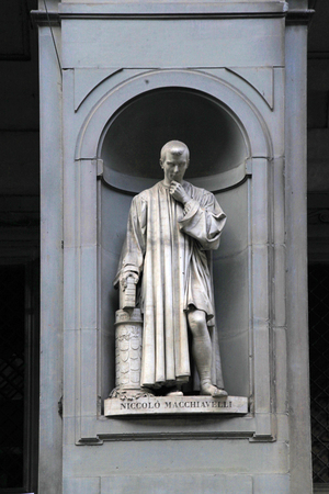 humanist: Statue of Niccolo Macchiavelli, Florence, Italy