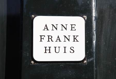 AMSTERDAM, NETHERLANDS - MAY 3, 2016: Anne Frank House on Prinsengracht 263 - biographical museum dedicated to Jewish wartime diarist Anne Frank, Amsterdam, Netherlands. Editorial