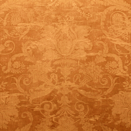 victorian wallpaper: Vintage golden wallpaper with shabby tapestry victorian pattern. Square image