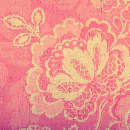victorian wallpaper: Vintage pink wallpaper with vignette victorian pattern, square toned image