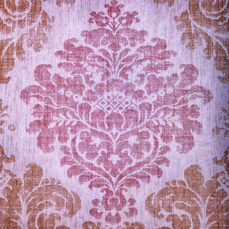 Vintage textured wallpaper with vignette damask victorian pattern, square toned image