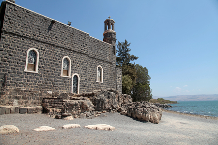 The Church of the Primacy of Saint Peter is a Franciscan church located in Tabgha, Israel, on the shore of the Sea of Galilee.