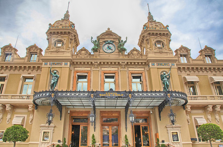 MONTE CARLO, MONACO - MAY 15,2013: Front of the Grand Casino in Monte Carlo, Monaco. The Casino is one of the most notable buildings in Principality. Editorial