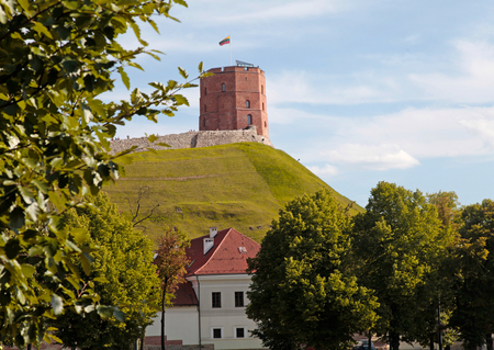 Tower Of Gediminas (Gedimino) in Vilnius, Lithuania. Historic symbol of The City of Vilnius. selective focus