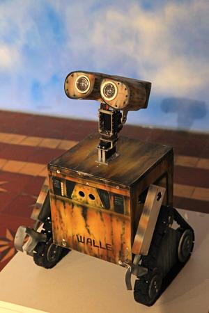 KIEV, UKRAINE - SEPTEMBER 30, 2017: WALL-E robot toy character in child ?enter, Kiev, Ukraine. .