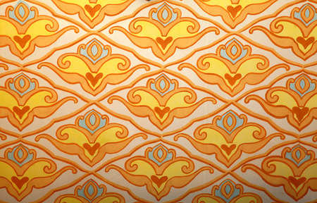 colorful pattern in oriental style, crimean tatar colorful ornament wall background