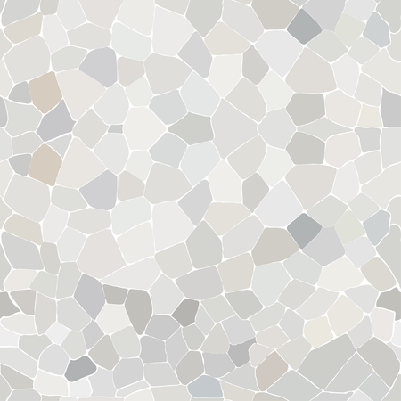 White Stone Wall Seamless Pattern Vector Illustration.
