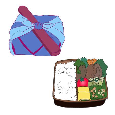 Bento Box. Japanese traditional lunch box. Stock Photo - 95292218
