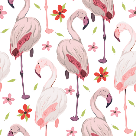 Exotic Wildlife Seamless Pattern.
