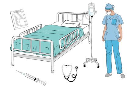 Hospital room. Foto de archivo - 100957184