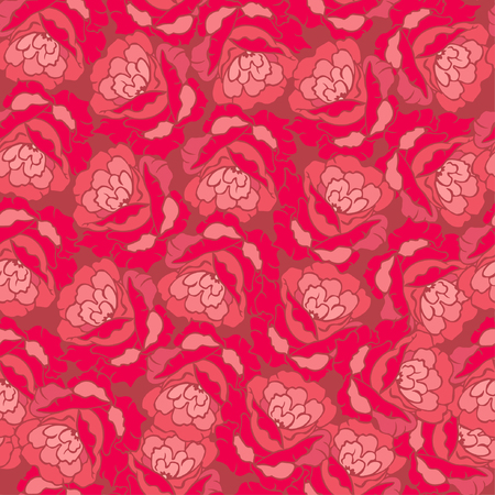 Seamless Flower Pattern with Red Roses.