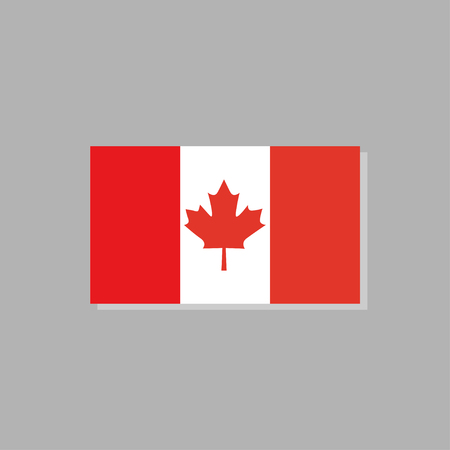 Symbol of Canada National Flag. Vector Illustration.
