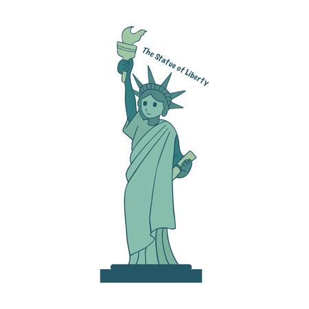 Statue of Liberty. New York. American symbol. Freedom of the world. Island of liberty