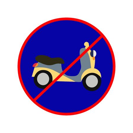 Prohibited use motorcycle sign. Simple vector illustration.