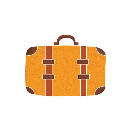 Travel Suitcase with modern noise style. Vector illustration. Ilustracja