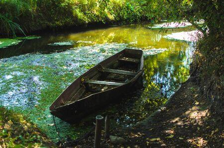 Old boat in the quagmire
