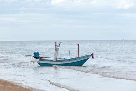 hua: Small fishing boats in the sea Hua Hin , Thailand