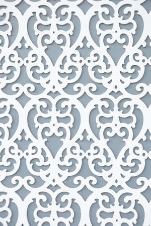 Gray wall pattern.