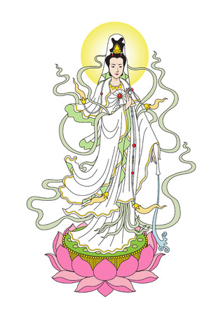 chinese woman: The Goddess of Mercy