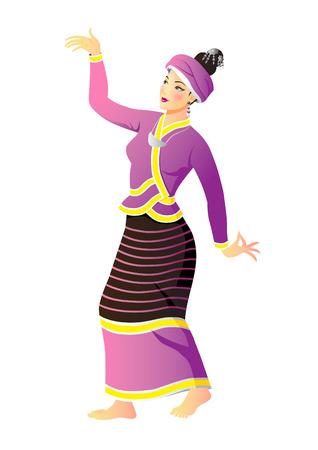 lanna: Thai Dance Illustration