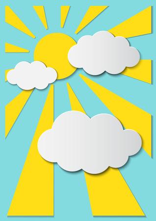 sun ray: Sun ray 3D paper graphics