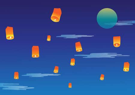 sky lantern: Sky lanterne