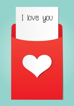 envelope decoration: Love letter paper graphics