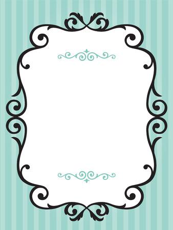 Vintage frame op groene streep achtergrond